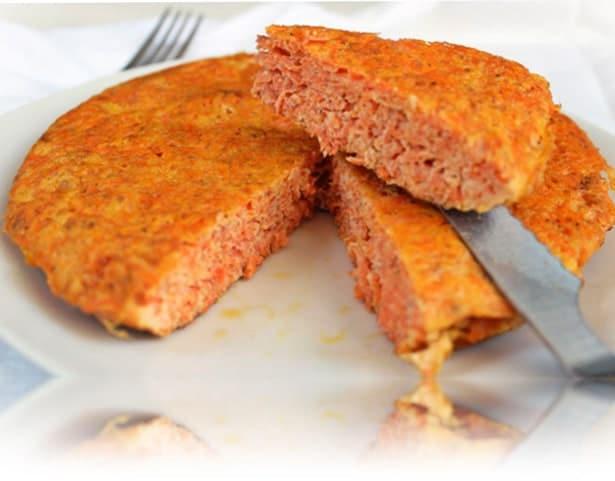 tortilla de zanahoria hecha con lekue